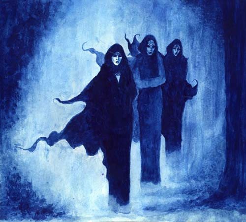 3 women in black robes