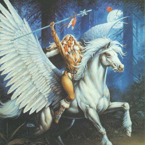 goldmoon on pegasus dragonlance
