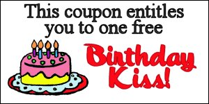 birthday kiss coupon