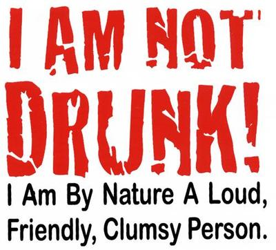 i am not drunk i am loud friendly clumsy person