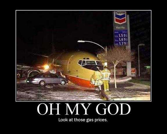 oh my god look at those gas prices - crashed airplane