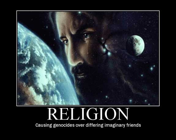 religion causing genocides over differing imaginary friends