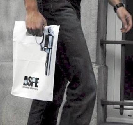 gun on bag