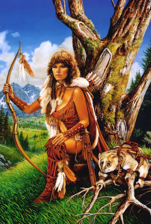 Native American Female With Bow And Arrows Facebook