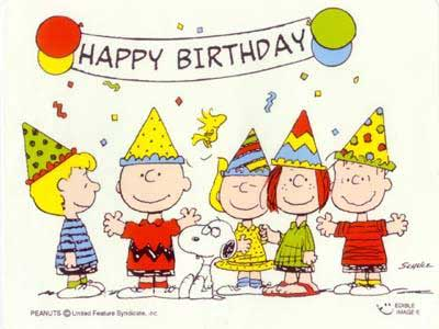 happy birthday snoopy peanuts