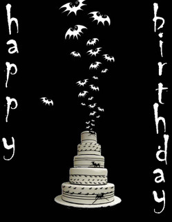 happy birthday cake bats