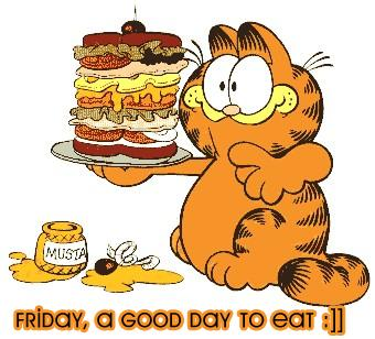 friday a good day to eat garfield