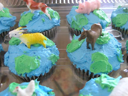 earth day cupcakes