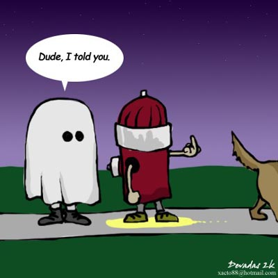 fire hydrant halloween costume gets peed on by dog