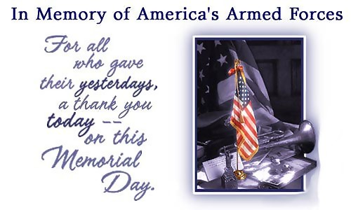 in memory of americas armed forces
