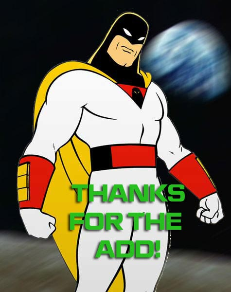 thanks for the add space ghost