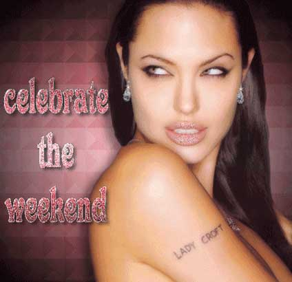 celebrate the weekend angelina jolie