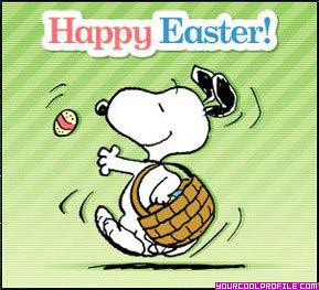 happy easter snoopy
