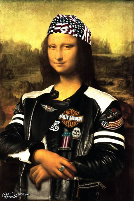 Harley Davidson Mona Lisa Biker Facebook Comments And