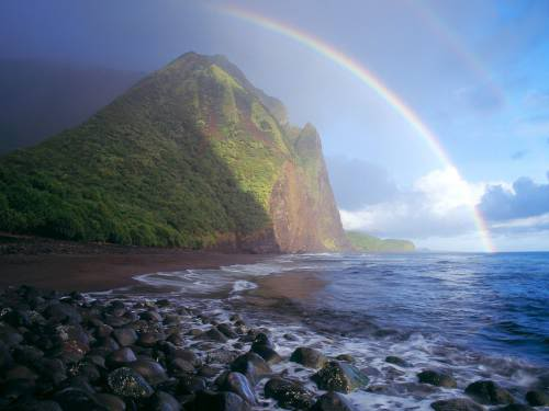 Misty Rainbow, Waialu Valley