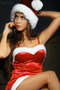 sexy christmas woman on phone