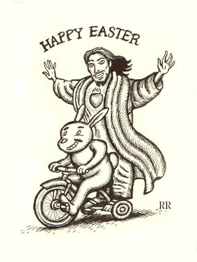 happy easter jesus riding on