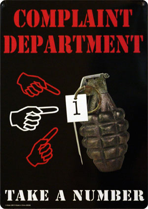complaint department grenade pin