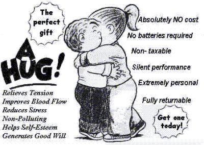 the perfect gift a hug