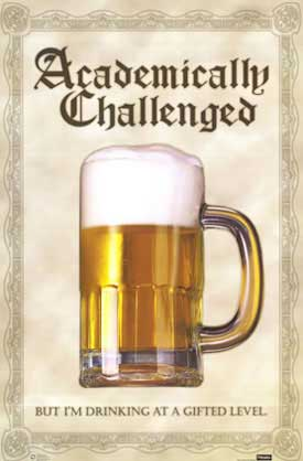 academically challenged beer