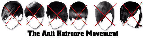 anti emo haircore movement