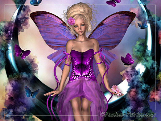 purple fairy butterflies