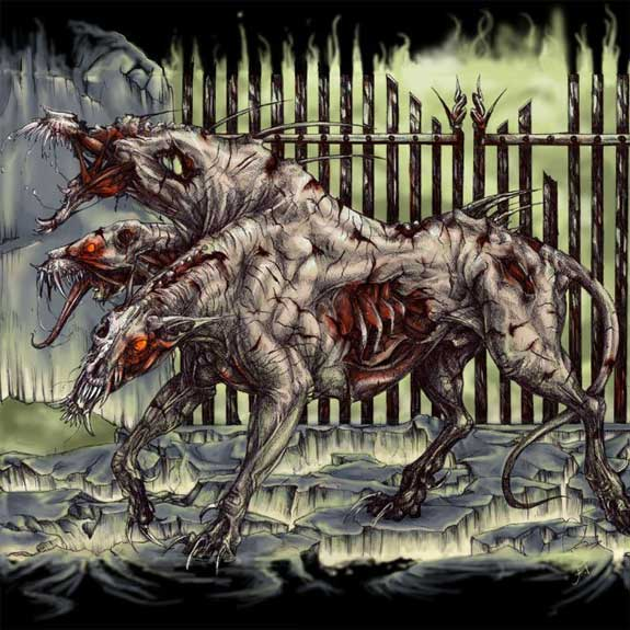 zombie cerebus 3 headed dog