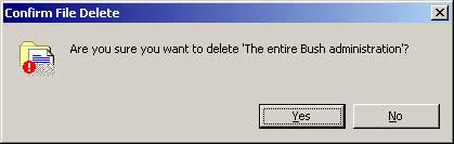 are you sure you want to delete bush
