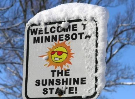 welcome minesota the sunshine state snow