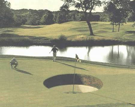 giant golf hole