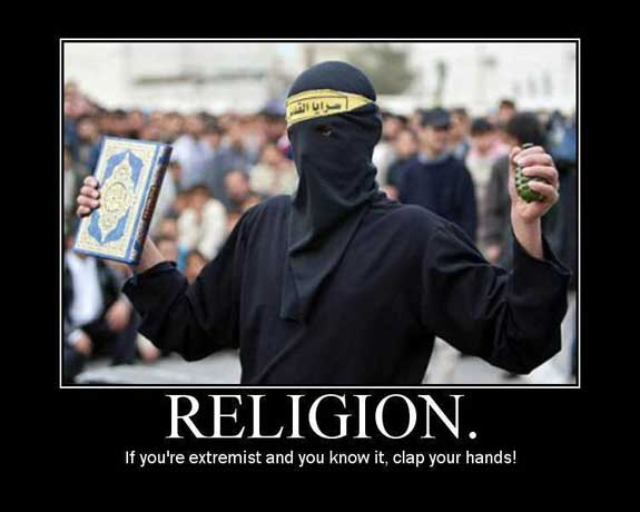 religion - if you're extremist and you know it clap your hands