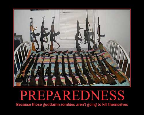 zombies aren't going to kill themselves - guns