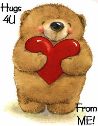 hugs 4 U from me teddy bear