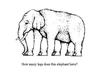 how many legs does this elephant have?