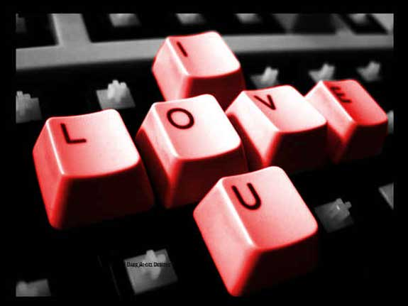 i love you keyboard