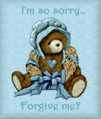 i'm so sorry forgive me teddy bear