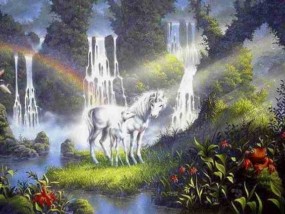 unicorns waterfalls