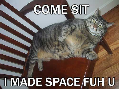 come sit i made space for you