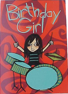 birthday girl drummer