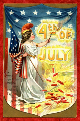4th of July - Teach him to hold the flag