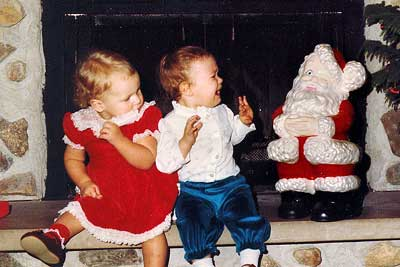 baby cries from santa statue