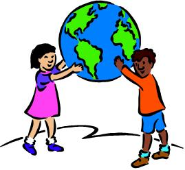 children holding the earth