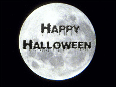 happy halloween moon