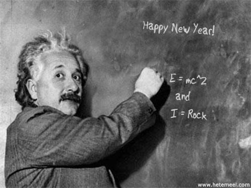 happy new year einstein