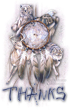 thanks dreamcatcher wolves eagle deer