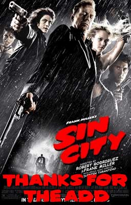 thanks for the add sin city