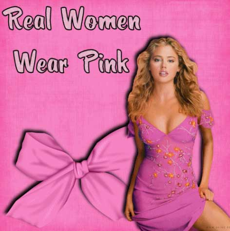 real women wear pink