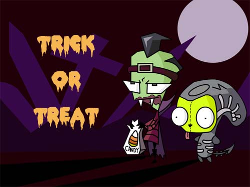 trick or treat halloween invader zim