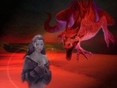 red dragon and lady