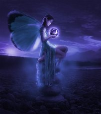 fairy with glowing orb